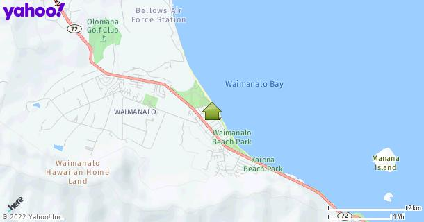Map of Waimanalo, HI