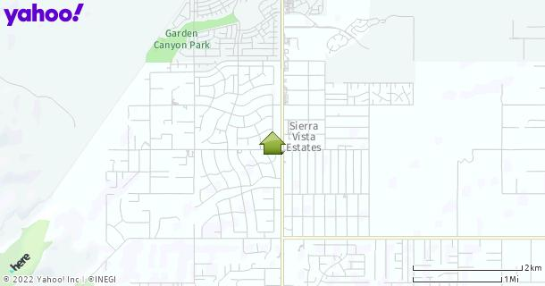 Map of Sierra Vista, AZ