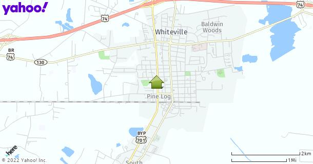 Map of Whiteville, NC
