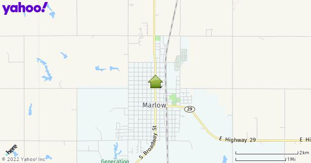 Map of Marlow, OK