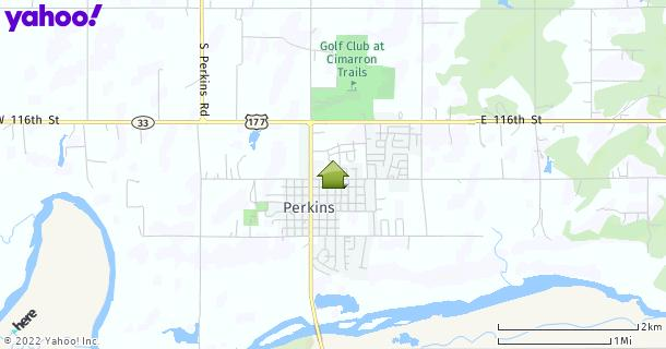Map of Perkins, OK