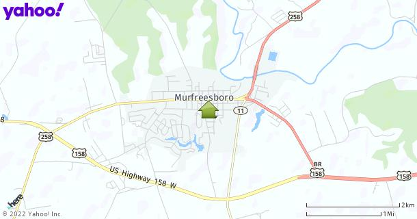 Map of Murfreesboro, NC