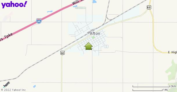 Map of Afton, OK