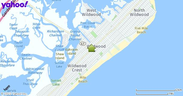 Map of Wildwood, NJ