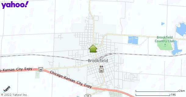 Map of Brookfield, MO