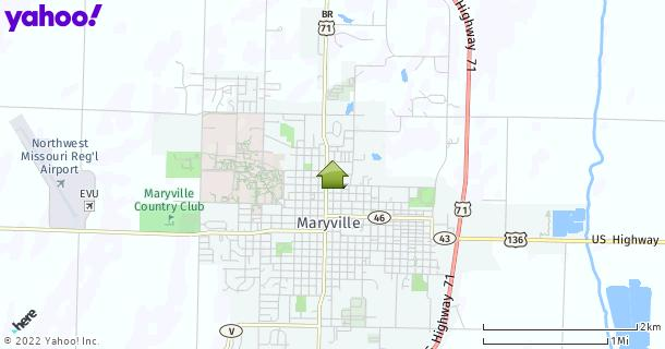 Map of Maryville, MO