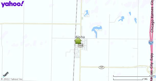 Map of Alpha, IL