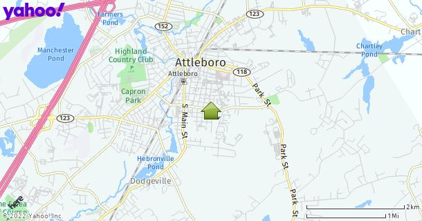 Map of Attleboro, MA
