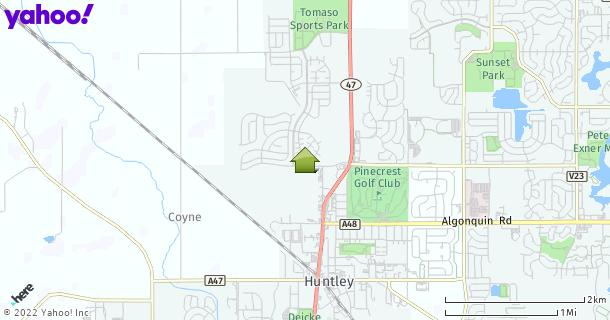 Map of Huntley, IL