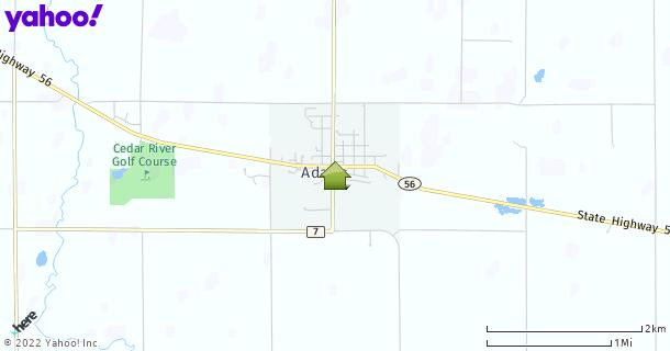 Map of Adams, MN