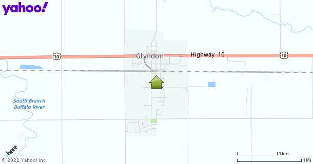 Map of Glyndon, MN